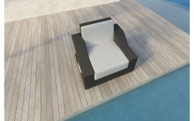 Designer Rattan Lounge Sofa MIRAGE 1 Sitzer V1