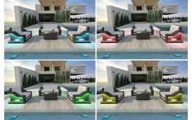 Designer Rattan Lounge Set MIRAGE 2+1+1 V2 von NATIVO™ Möbel Österreich