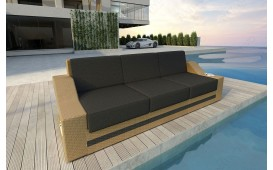 Designer Rattan Lounge Sofa MIRAGE 3 Sitzer
