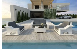Designer Rattan Lounge Set MIRAGE 2+1+1