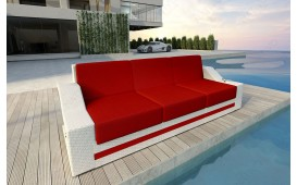 Designer Rattan Lounge Sofa MIRAGE 3 Sitzer V2