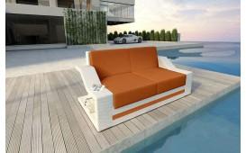Designer Rattan Lounge Sofa MIRAGE 2 Sitzer V2 von NATIVO™ Möbel Österreich