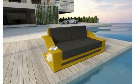 Designer Rattan Lounge Sofa MIRAGE 2 Sitzer V2