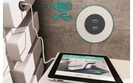Boxspringbett BERLIN in Leder inkl. Topper & USB Anschluss von NATIVO™ Designer Möbel Österreich