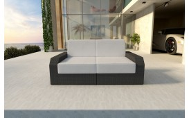 Designer Rattan Lounge Sofa MESIA 2 Sitzer V1 von NATIVO™ Designer Möbel Österreich