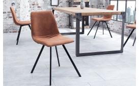 4 x Designer Stuhl DELFT BROWN
