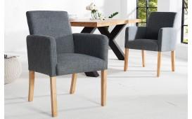 Designer Stuhl ROSSI GREY mit Armlehne von NATIVO™ Designer Möbel Österreich