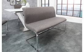 Designer Polsterbank SUMMER GREY 130 cm