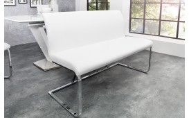 Designer Polsterbank SUMMER WHITE 130 cm