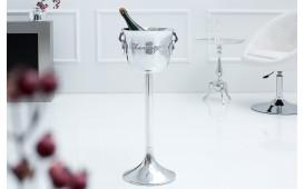 Designer Champagner-Kühler KING 75 cm SILVER