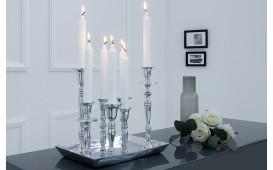 Designer Kerzenständer CHANDELIER SILVER M