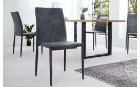 4 x Designer Stuhl TORINO DARK GREY