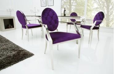 stuhl rocco lila ii mit armlehne von nativo designer m bel sterreich. Black Bedroom Furniture Sets. Home Design Ideas
