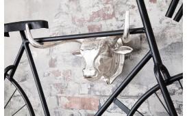 Designer Wand-Fahrradhalter MATADORE SILVER 47 cm