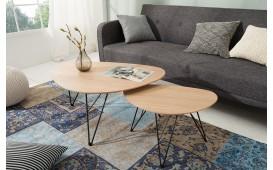Designer Couchtisch KNEE WOOD SET 2 von NATIVO™ Designer Möbel Österreich
