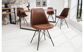 Designer Stuhl SCANIA RETRO ANTIK BROWN von NATIVO™ Möbel Österreich