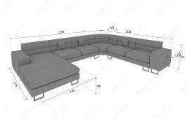 Designer Sofa GREGORY XXL mit LED Beleuchtung von NATIVO™ Möbel Österreich