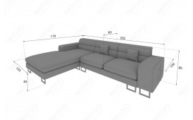 Designer Sofa GREGORY MINI mit LED Beleuchtung von NATIVO™ Möbel Österreich