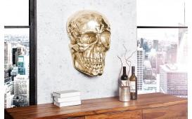 Designer Wandskulptur CRANIUM GOLD 40 CM