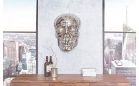 Designer Wandskulptur CRANIUM SILVER 40 cm von NATIVO™ Designer Möbel Österreich