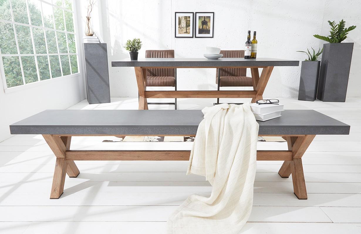 sitzbank concrete 180 cm von nativo designer m bel sterreich. Black Bedroom Furniture Sets. Home Design Ideas