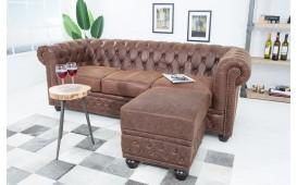 Designer Sitzhocker CHESTERFIELD BROWN CUBE von NATIVO™ Designer Möbel Österreich