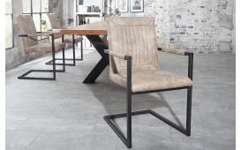 Designer Stuhl WINTER BEIGE MIT ARMLEHNE von NATIVO™ Designer Möbel Österreich