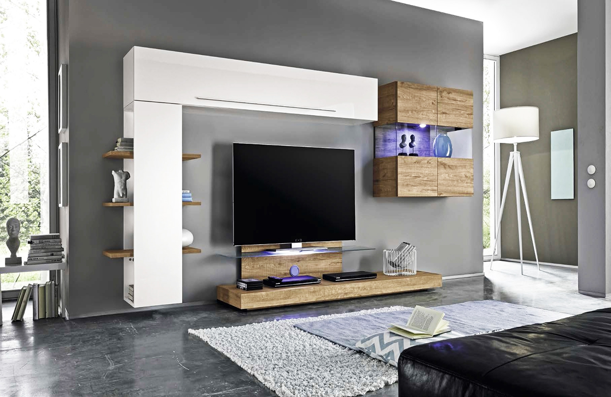 designer wohnwand campania nativo wien moebel. Black Bedroom Furniture Sets. Home Design Ideas