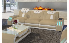 3 Sitzer Sofa CLERMONT mit LED Beleuchtung