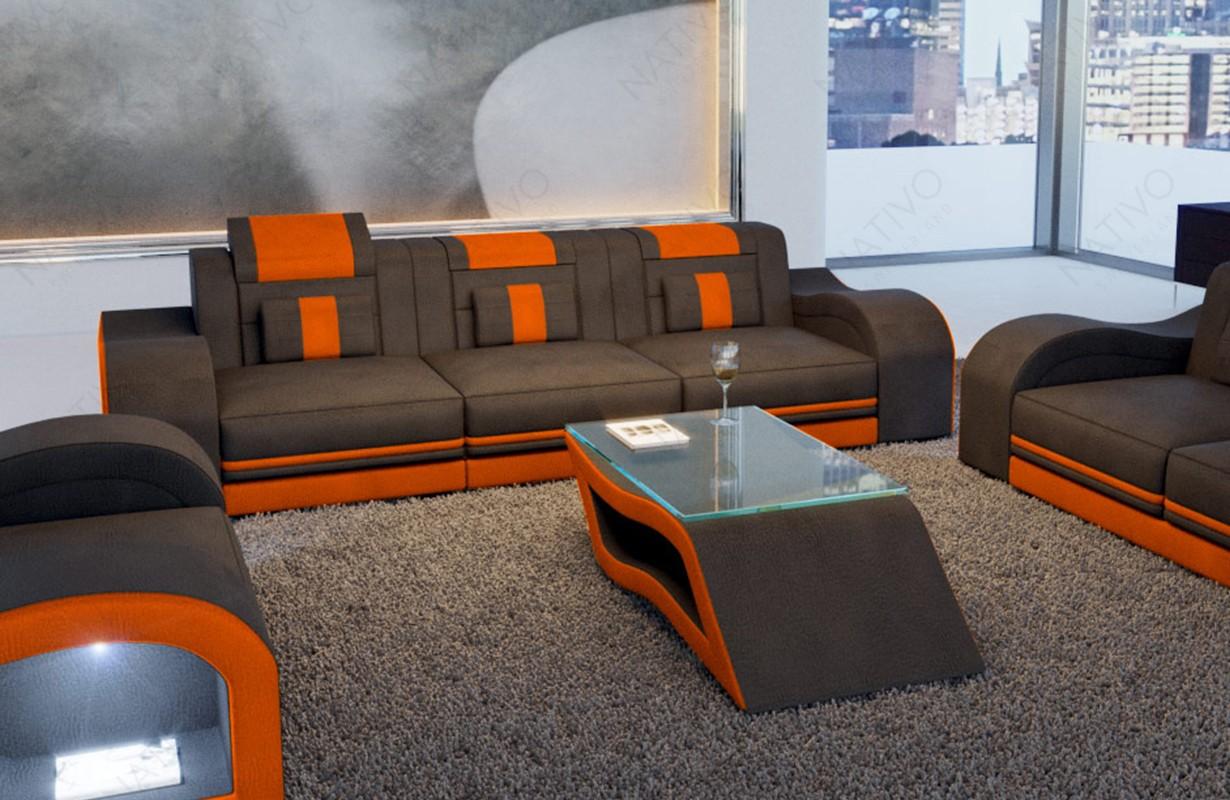 Sofa Mit Beleuchtung | 3 Sitzer Sofa Hermes Bei Nativo Mobel Oesterreich Gunstig Kaufen