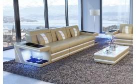 3 Sitzer Sofa CAREZZA mit LED Beleuchtung