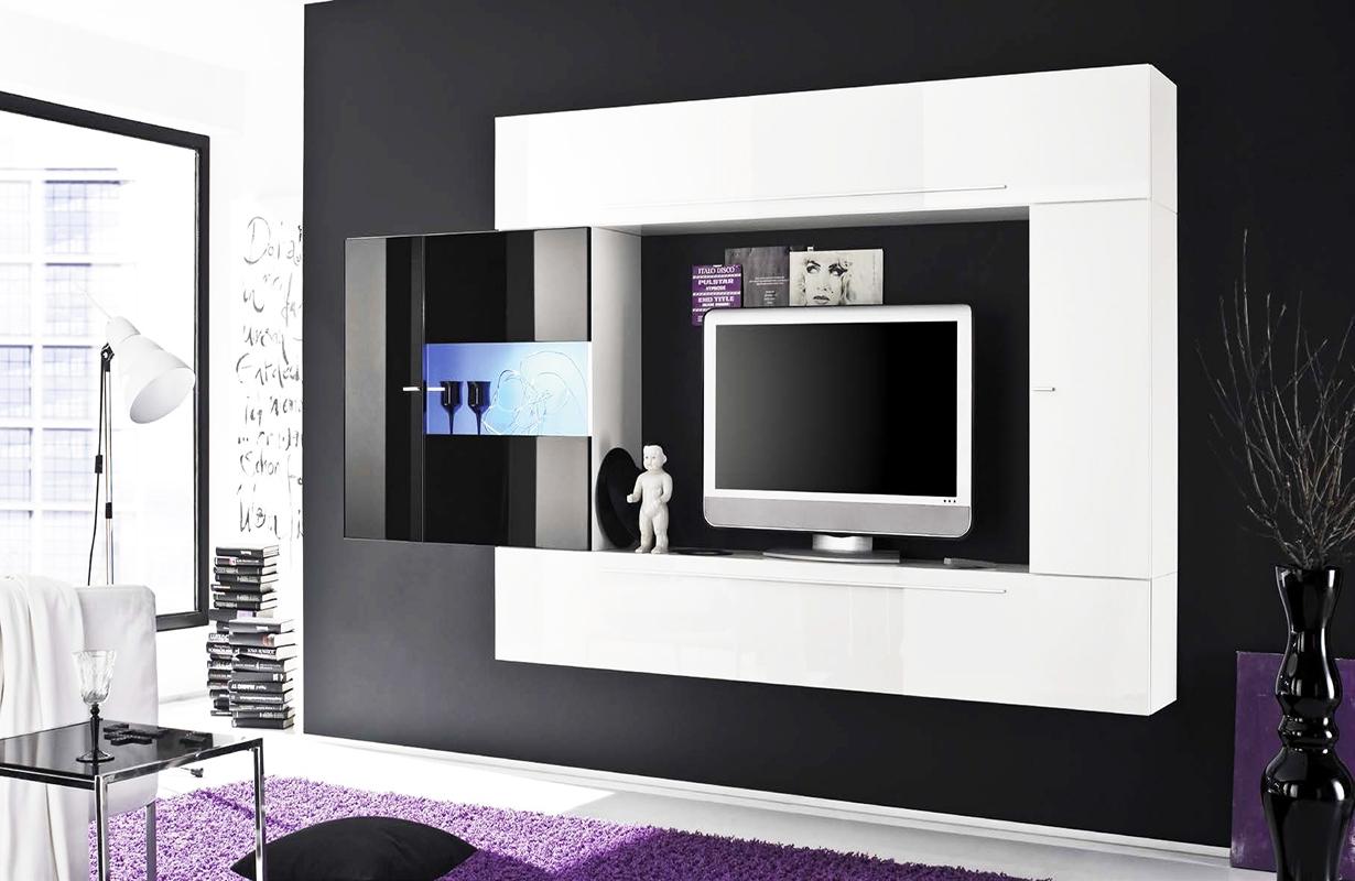 designer schrankwand best design schrankwand indroscana in wei riffel optik cm teilig with. Black Bedroom Furniture Sets. Home Design Ideas