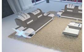 2 Sitzer Sofa MYSTIQUE mit LED Beleuchtung & USB Anschluss