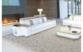 2 Sitzer Sofa CESARO mit LED Beleuchtung