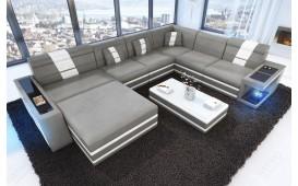 Designer Sofa CAREZZA XXL mit LED Beleuchtung ab lager Ab Lager - sofort verfügbar