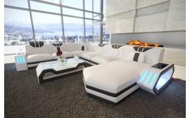 Designer Sofa CLERMONT XXL mit LED Beleuchtung ab lager