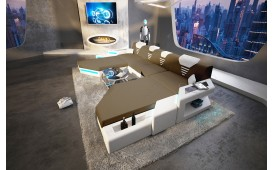 Designer Sofa NEMESIS XXL DUO mit LED Beleuchtung & USB Anschluss NATIVO™ Möbel Österreich