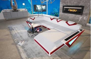 Designer Sofa FALCO XXL mit LED Beleuchtung & USB Anschluss NATIVO