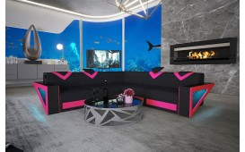 Designer Sofa FALCO CORNER mit LED Beleuchtung & USB Anschluss NATIVO