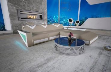 Designer Sofa FALCO MINI mit LED Beleuchtung & USB Anschluss NATIVO