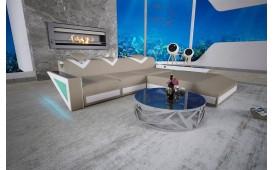 Designer Sofa FALCO MINI mit LED Beleuchtung & USB Anschluss