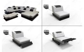 2 Sitzer Sofa ROUGE mit LED Beleuchtung & USB Anschluss von NATIVO™ Möbel Österreich