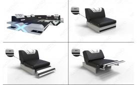 Designer Sofa MYSTIQUE CORNER U FORM mit LED Beleuchtung & USB Anschluss von NATIVO™ Möbel Österreich