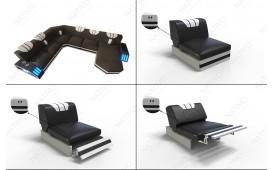 Designer Sofa CLERMONT XXL mit LED Beleuchtung von NATIVO™ Möbel Österreich