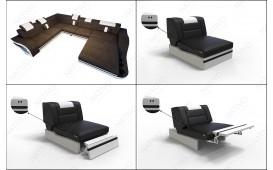 3 Sitzer Sofa HERMES mit LED Beleuchtung von NATIVO™ Möbel Österreich