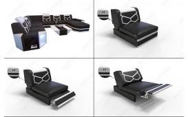 Designer Sofa AVENTADOR CORNER XL mit LED Beleuchtung von NATIVO™ Möbel Österreich