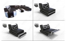 Designer Sofa AVENTADOR CORNER mit LED Beleuchtung von NATIVO™ Möbel Österreich