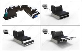 Designer Sofa SPACE 3+2+1 mit LED Beleuchtung von NATIVO™ Möbel Österreich