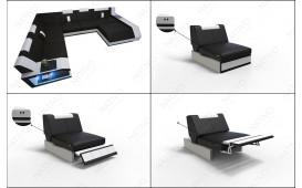 Designer Sofa MATIS 3+2+1 mit LED Beleuchtung von NATIVO™ Möbel Österreich