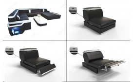 Designer Sofa CESARO 3+2+1 mit LED Beleuchtung von NATIVO™ Möbel Österreich